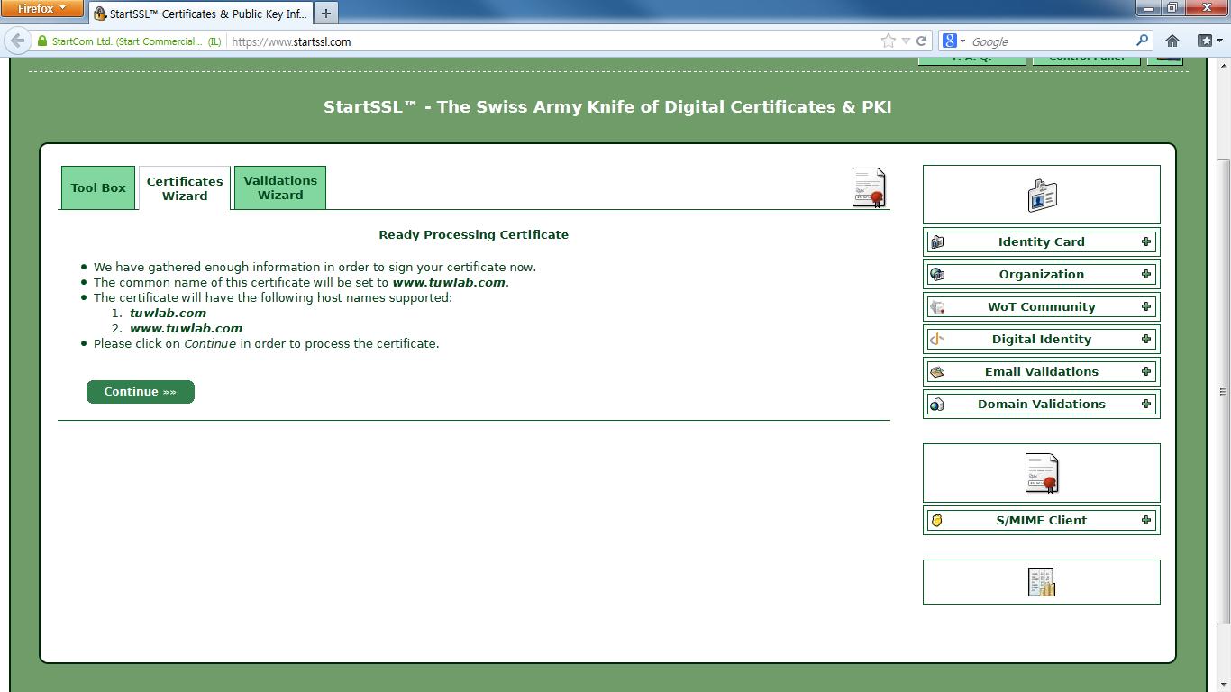 5-5 Certificates Wizard