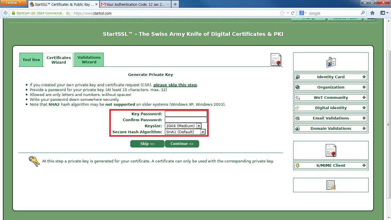5-2 Certificates Wizard