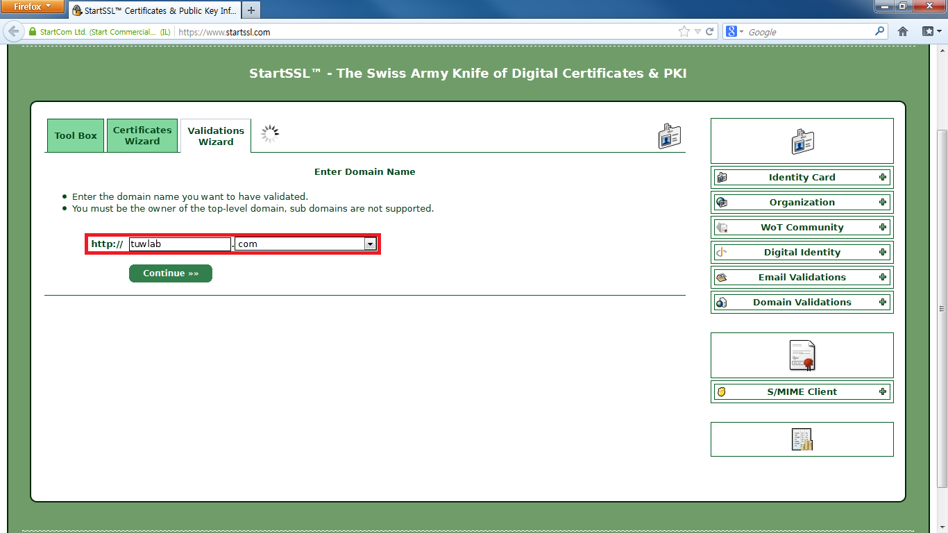 4-2 Domain Name Validation